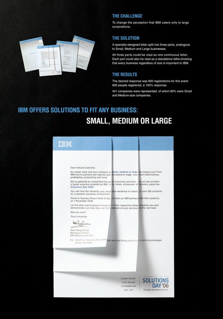 ДМ кейс. Рекламные тексты IBM