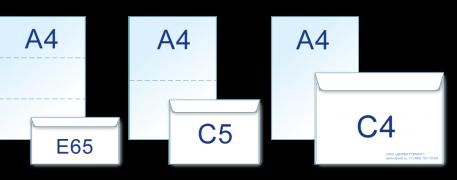 Форматы конвертов